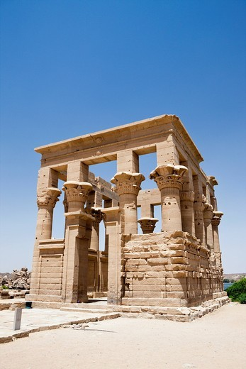 Temple of Isis on Philae Island, Aswan, Egypt : Stock Photo