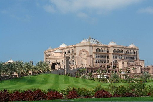 United Arab Emirates, Asia, Middle East, UAE, Abu Dhabi, Abu Dhabi city, Hotel Emirates Palace, Hotel, Gastronomy, arc : Stock Photo
