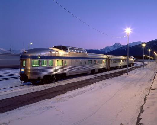 Stock Photo: 1597-130627 Canada, North America, America, Jasper Station, Jasper, national park, UNESCO, World heritage site, landscape, Rocky m