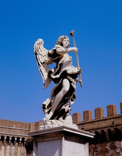 Italy, Europe, Rome, angel´s bridge, angel´s statue, : Stock Photo