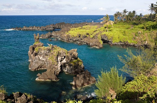 Waianapanapa State Park on Road to Hana, Hawaii, U : Stock Photo