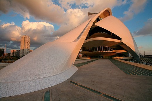 Stock Photo: 1597-132250 Spain, Europe, Valencia city, Ciutat de les Arts i les Ciències, Ciudad de las Artes y las Ciencias, City of Arts and