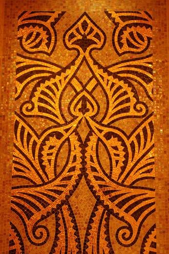 Stock Photo: 1597-133166 mosaic, oriental, in Arabic, emirate Palace hotel, Abu Dhabi, united Arab Emirates, UAE, Arabian peninsula