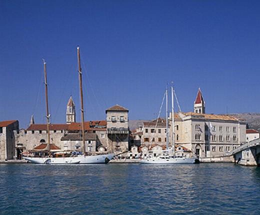 Adriatic, Adriatic Sea, architecture, Balkans, building, buildings, coast, coastal, coastline, convent, Croatia, Eur : Stock Photo