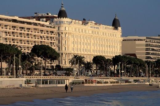 Stock Photo: 1597-135410 Carlton, Hotel, La Croisette, Cannes, Cote d´azur, Provence, France, Europe,