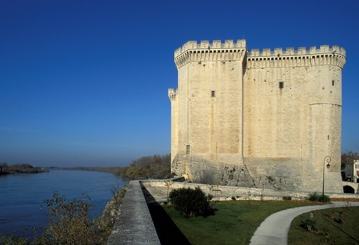 Chateau, castle, Tarascon, Camargue, Provence, France, Europe, : Stock Photo