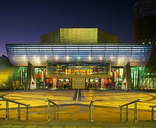 architecture, art, Britain, building, center, centre, city, dusk, education, England, Europe, entrance, EU, Europe, : Stock Photo