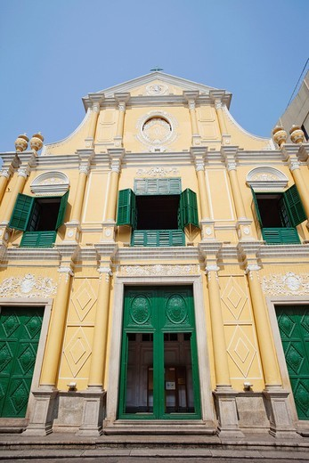 Stock Photo: 1597-137702 Asia, China, Macau, Macao, St.Dominics Church, Santa Domingos, Church, Churches, Catholic, Religion, UNESCO, UNESCO World Heritage Sites, Holiday, Vacation, Tourism, Travel
