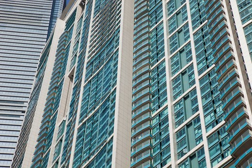 Asia, China, Hong Kong, Hongkong, Kowloon, West Kowloon, Buildings, Skyscrapers, Housing, Apartments, Tourism, Holiday, Vacation, Travel : Stock Photo