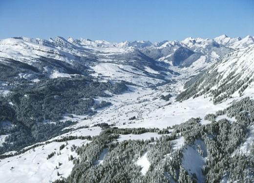 aerial photo, canton St. Gallen, Churfirsten, mountains, scenery, landscape, snow, Switzerland, Europe, Toggenburg, : Stock Photo