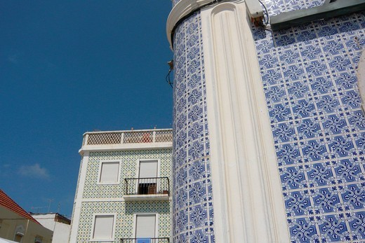 Stock Photo: 1597-138805 Portugal, Europe, Nazare, house, home, houses, homes, typical, tiles, tiles