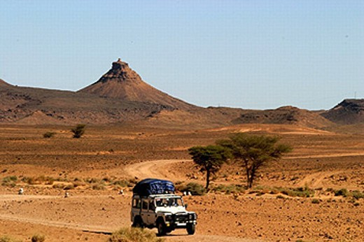 adventure, automobile, car, cross country vehicle, desert, East, expedition, jeep, Morocco, Africa, rock : Stock Photo