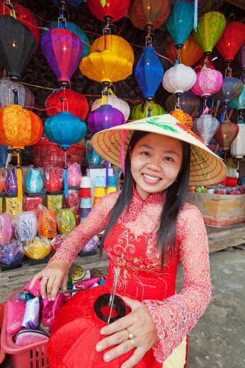 Asia, Vietnam, Hoi An, Hoian, Faifo, Hoi An, Old Town, Handicrafts, Lanterns, Chinese Lanterns, Paper Lanterns, UNESCO, UNESCO World Heritage Sites, Tourism, Travel, Holiday, Vacation, : Stock Photo