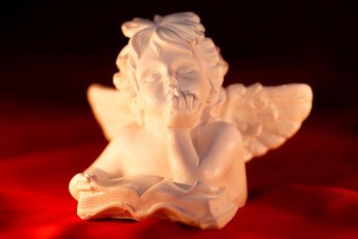 Decoration, Adornment, angel, glitter, close_up, jewellery, decoration, Christmas, Christmas decoration, Christmas mood, decorative, festive, gold, red, atmospheric, knows : Stock Photo