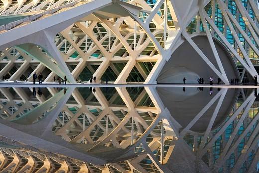 Stock Photo: 1597-141326 Spain, Europe, Valencia, City of Arts and Science, Calatrava, architecture, modern,