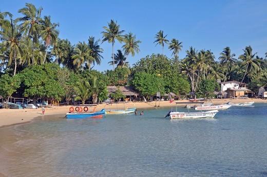 Stock Photo: 1597-141968 Asia, Ceylon, coast, seashore, sand beach, beach, seashore, South Asia, Unawatuna, Sri Lanka