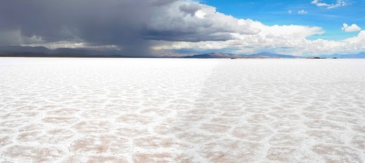 Argentina, South America, Purmamarca, Juiuy, saltwork, salt, salt lake, Salinas Grandes : Stock Photo