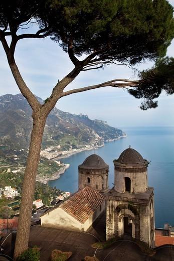 Amalfi, Amalfiküste, Ausblick, Aussicht, Blick, Campania, Golf von Neapel, Italien, Kampanien, Küste, Meer, Meta, Mittelmeer, Ravello, Sorrent : Stock Photo