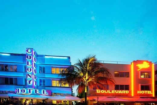 Miami Beach, Florida, USA, US, United States, U.S., America, United States of America, North America, Art Deco District, Art Deco, Neon sign, Neon, Lights, Lighting, Light, World travel, World locations, Travels, Daytime, Landmarks, Landmark, Travel, Colo. Miami Beach, Florida, USA, US, United States, U.S., America, United States of America, North America, Art Deco District, Art Deco, Neon sign, Neon, Lights, Lighting, Light, World travel, World locations, Travels, Daytime, Landmarks, Landmark,  : Stock Photo