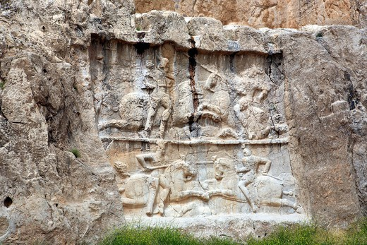 Stock Photo: 1597-155946 Iran, Iranian, Persia, Persian, Middle East, Middle Eastern, Western Asia, travel, travel, destinations, world locations, Architecture, building, Sculpture, art, Relief, bas_relief, Sassanian kings, 3rd century, Naqsh_e Rustam, Fars province, Naqsh_e Rost. Iran, Iranian, Persia, Persian, Middle East, Middle Eastern, Western Asia, travel, travel, destinations, world locations, Architecture, building, Sculpture, art, Relief, bas_relief, Sassanian kings, 3rd century, Naqsh_e Rustam, Fars province,