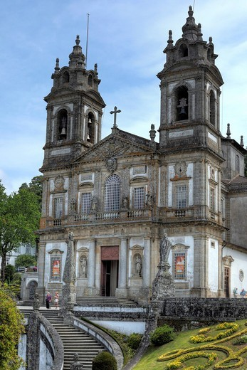 Stock Photo: 1597-156046 Europe, European, travel, destinations, Iberia, Iberian peninsula, Portugal, Portuguese, Southern Europe, Western Europe, city, Bom Jesus do Monte sanctuary, Tenoes, Braga, Church, Minho, Carlos Amarante, Neoclassic architecture, Architecture, building