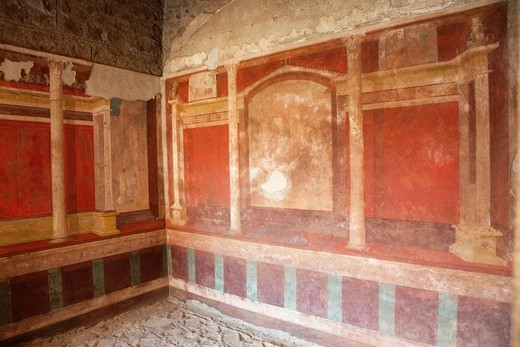 Europe, Italy, Rome, Palatine, House of Augustus, Interior, Tourism, Travel, Holiday, Vacation : Stock Photo