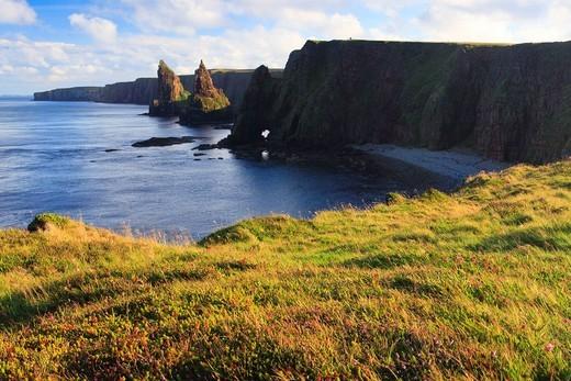 Stock Photo: 1597-157337 Dunksansby Head, cliff formations, Great Britain, Highland, highlands, sky, highland, John o Grroats, cliff, cliffs, coast, coastal scenery, scenery, sea, seashore, nature, North Sea, paradise, sand, sand beach, Scottish highlands, Scotland, UK, waves, ro. Dunksansby Head, cliff formations, Great Britain, Highland, highlands, sky, highland, John o Grroats, cliff, cliffs, coast, coastal scenery, scenery, sea, seashore, nature, North Sea, paradise, sand, sand beach, Scottish highlands, Scotland, U