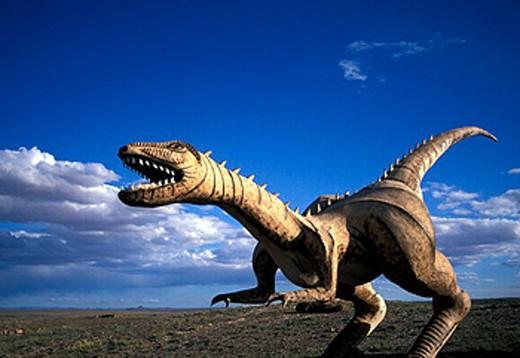 Stock Photo: 1597-16041 Arizona, Dino sour park, dinosaur, Holbrook, sculpture, simulation, USA, America, United States