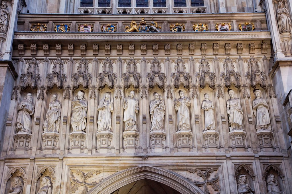 Stock Photo: 1597-160761 UK, United Kingdom, Great Britain, England, London, Westminster, Westminster Abbey, Church, Churches, Landmark, Tourism, Travel, Holiday, Vacation