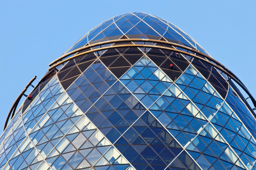 Stock Photo: 1597-160827 UK, United Kingdom, Great Britain, Britain, England, London, The City, The Gherkin, Swiss Re, Offices, Office Building, Business, Architecture, Modern Architecture, Graphic, Norman Foster, Foster,
