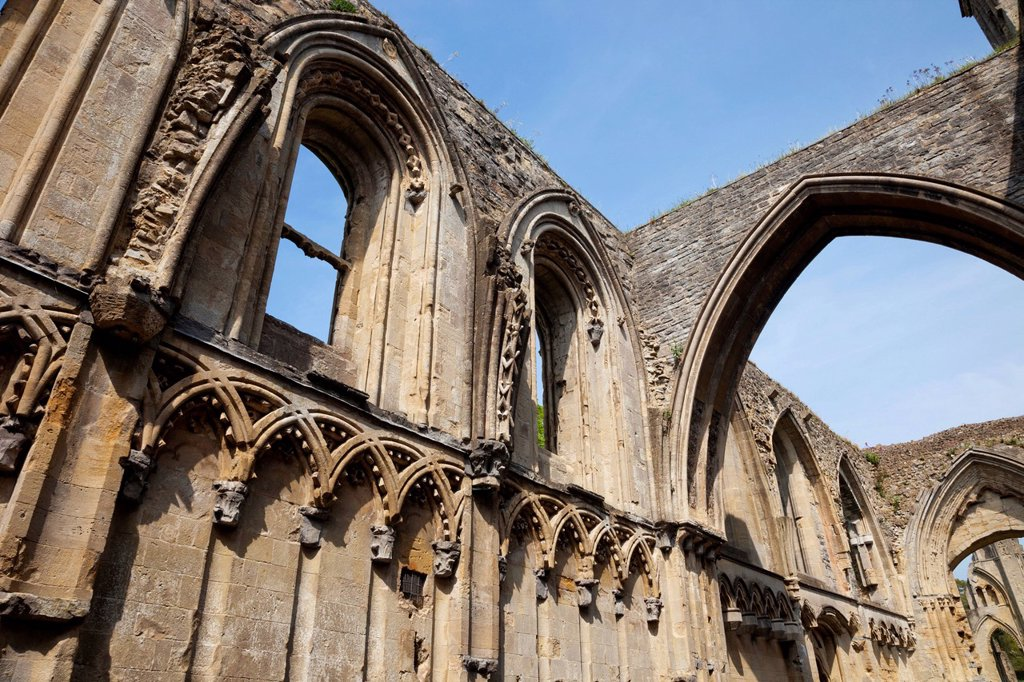 Stock Photo: 1597-161247 UK, United Kingdom, Great Britain, Britain, England, Europe, Somerset, Glastonbury, Glastonbury Abbey, Abbey