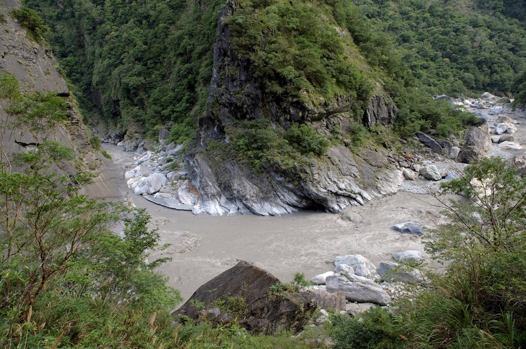 Stock Photo: 1597-162354 Asia, national park, Taroko, Hualin, Hualien, Taiwan, Taroko, gulch, water, gray,