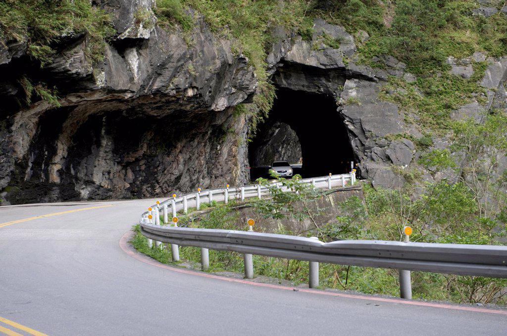 Stock Photo: 1597-162355 Asia, national park, Taroko, Hualin, Hualien, Taiwan, Taroko, gulch, street, tunnel