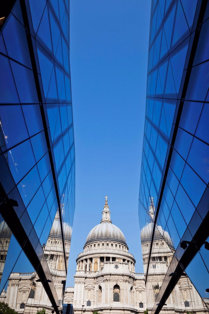 UK, United Kingdom, Great Britain, Britain, England, Europe, London, City, St. Pauls Cathedral, St. Pauls´ Cathedral, Cathedral, Cathedrals : Stock Photo