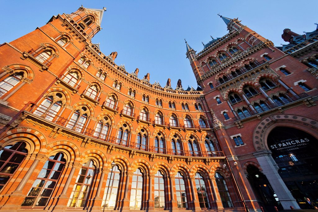 Stock Photo: 1597-162759 UK, United Kingdom, Great Britain, Britain, England, Europe, London, Kings Cross, St. Pancras Renaissance, Hotel, St. Pancras, Hotel, Hotels, Renaissance, Architecture