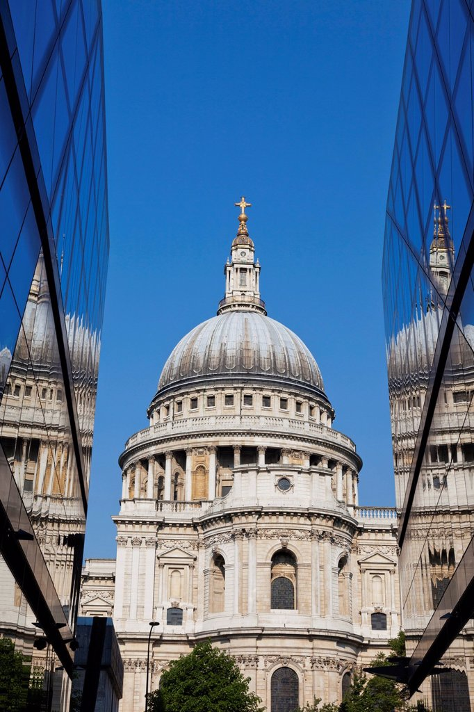 Stock Photo: 1597-163645 UK, United Kingdom, Great Britain, Britain, England, Europe, London, City, St. Pauls Cathedral, St. Pauls´ Cathedral, Cathedral, Cathedrals