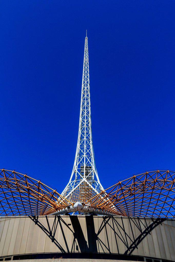 Stock Photo: 1597-163647 Arts Centre, Australia, Melbourne, Melbourne Arts Precinct, Southbank, Victoria, architecture