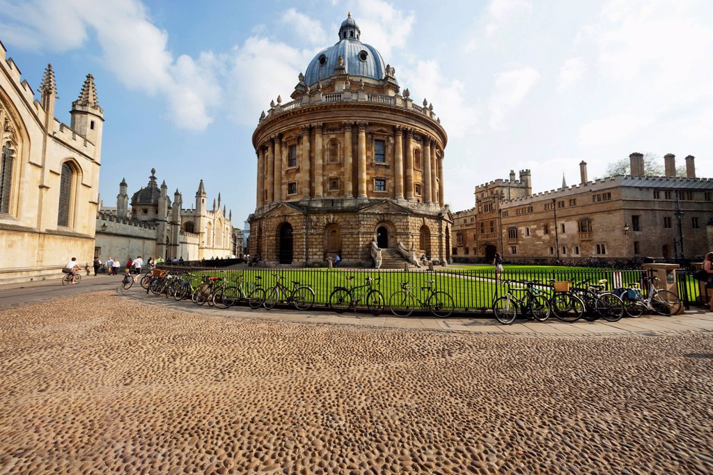 UK, United Kingdom, Great Britain, Britain, England, Europe, Oxfordshire, Oxford, Oxford University, Radcliffe Camera, University, Education : Stock Photo