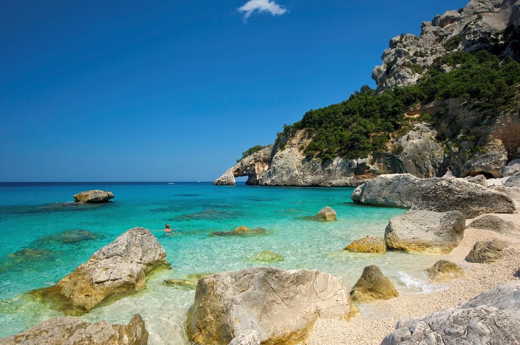 Stock Photo: 1597-164031 Italy, Sardegna, Sardinia, Europe, European, island, isle, islands, isles, Mediterranean Sea, day, Cala Goloritze, Golfo di Orosei, Parco Nazionale, Gennargentu, coast, seashore, coasts, seashores, coastal, scenery, nature, sea, sand beach, sand beaches,. Italy, Sardegna, Sardinia, Europe, European, island, isle, islands, isles, Mediterranean Sea, day, Cala Goloritze, Golfo di Orosei, Parco Nazionale, Gennargentu, coast, seashore, coasts, seashores, coastal, scenery, nature, sea, sand beach, san