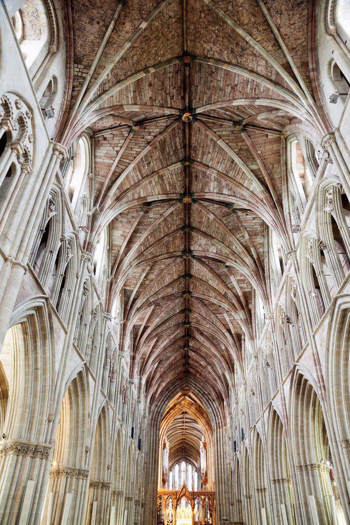 Stock Photo: 1597-164728 UK, United Kingdom, Great Britain, Britain, England, Europe, Worcestershire, Worcester, Worcester Cathedral, Cathedral, Cathedrals, Interior
