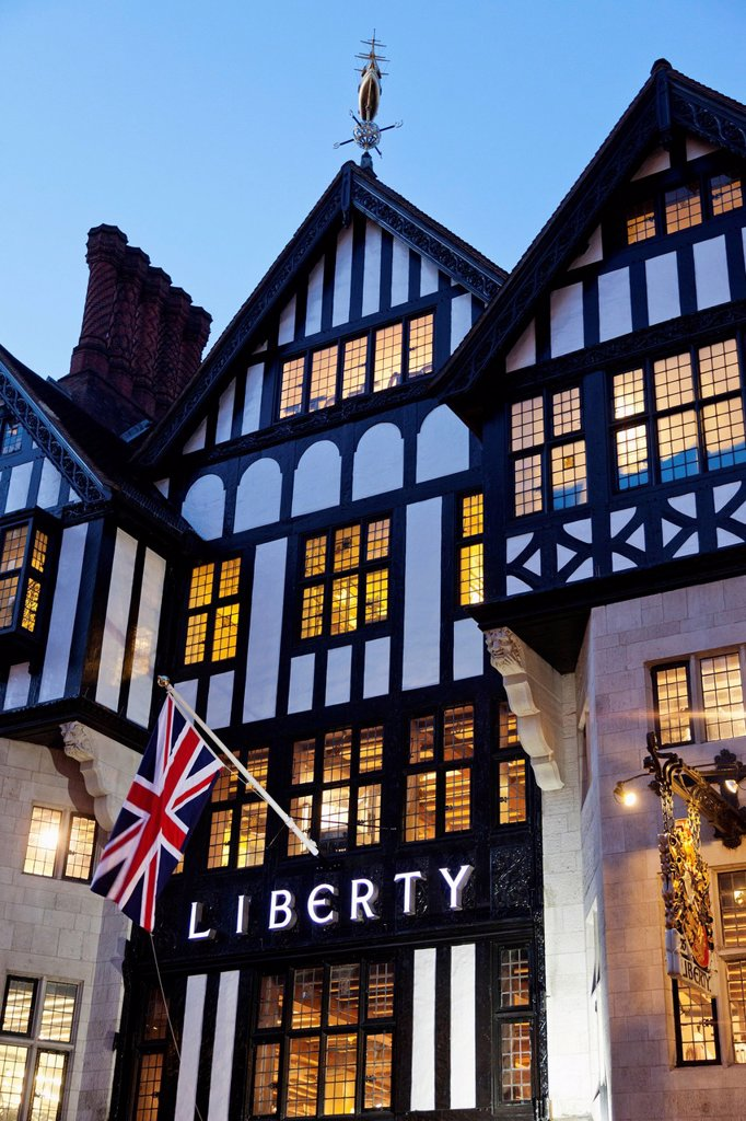 UK, United Kingdom, Great Britain, Britain, England, Europe, London, Liberty, Department Store, Libertys : Stock Photo