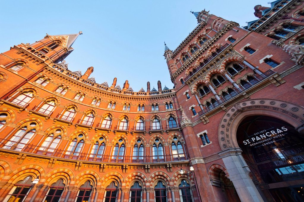 UK, United Kingdom, Great Britain, Britain, England, Europe, London, Kings Cross, St. Pancras Renaissance, Hotel, St. Pancras, Hotel, Hotels, Renaissance, Architecture : Stock Photo