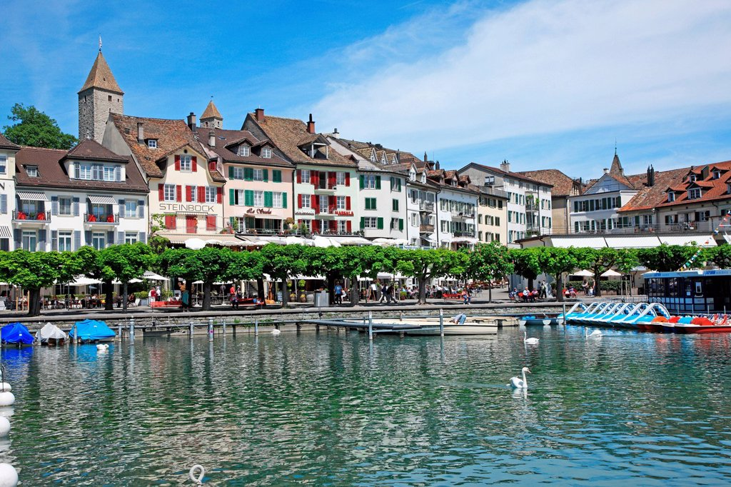 Switzerland, Canton St. Gallen, Rapperswil : Stock Photo
