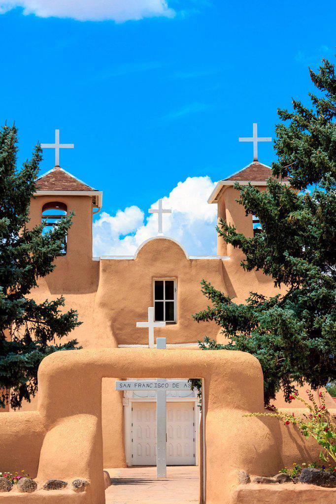 San Francisco de Asis, Mission, Church, Ranchos de Taos, : Stock Photo