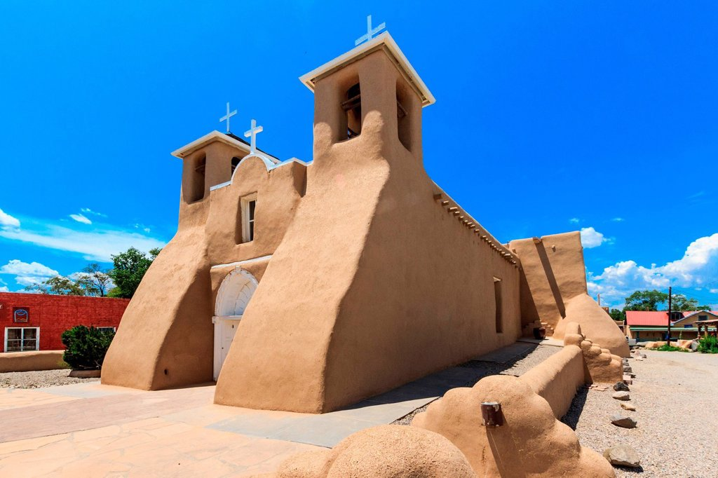 Stock Photo: 1597-168769 San Francisco de Asis, Mission, Church, Ranchos de Taos,