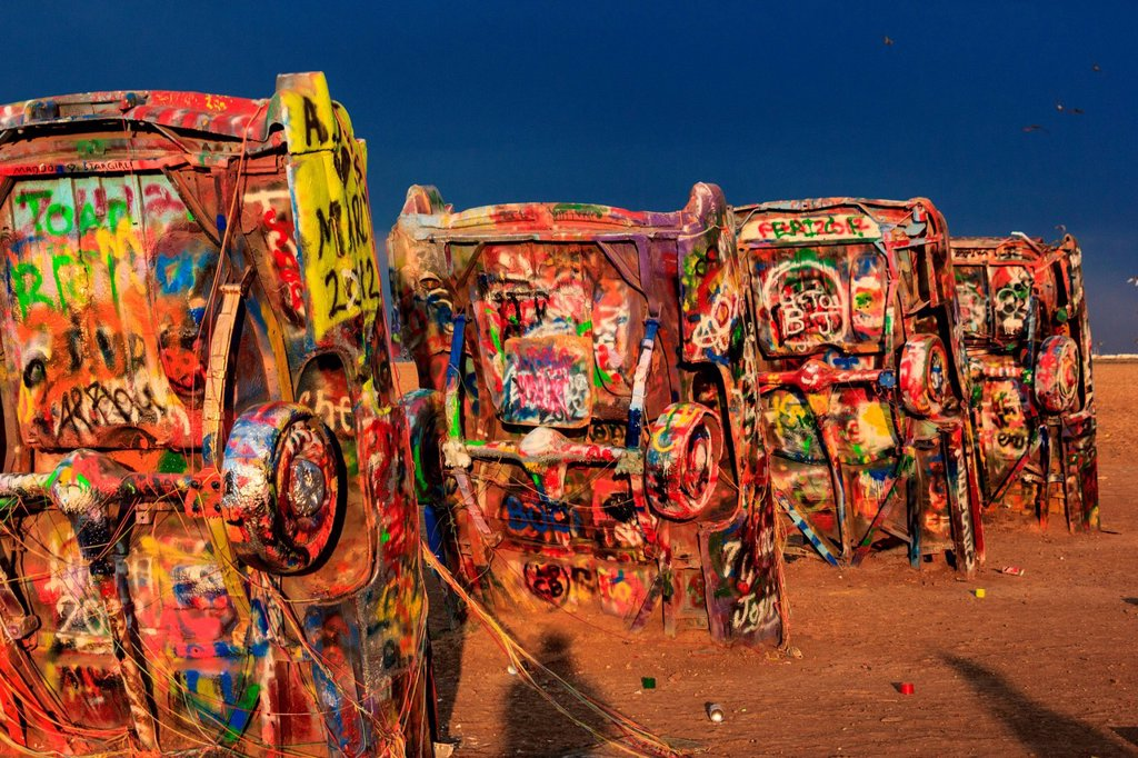Stock Photo: 1597-168792 Cadillac Ranch in Amarillo