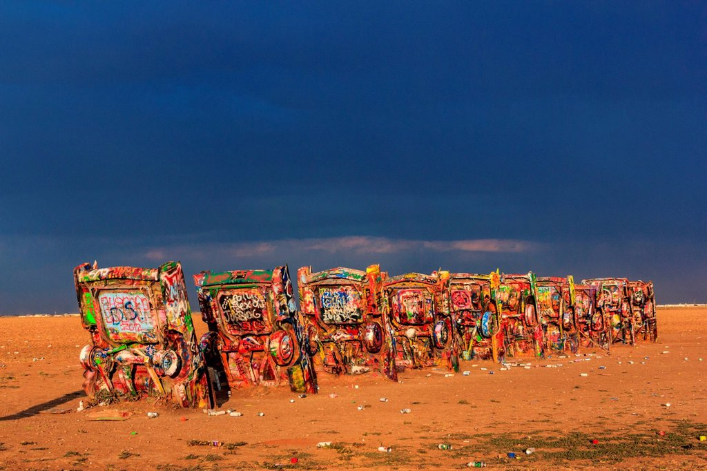 Stock Photo: 1597-168797 Cadillac Ranch in Amarillo