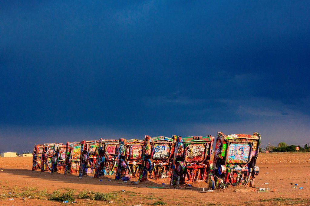 Cadillac Ranch in Amarillo : Stock Photo