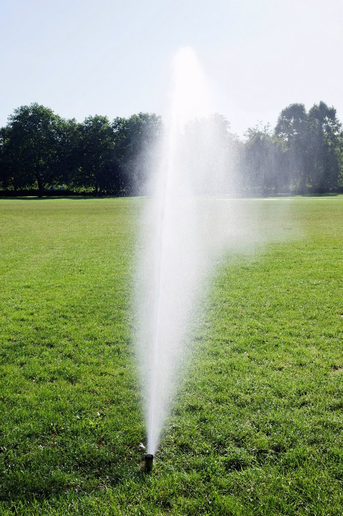 Stock Photo: 1597-170340 England, London, Regents Park, Watering System