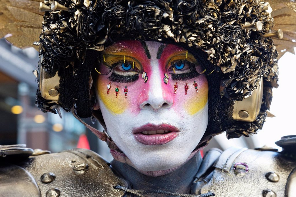 Stock Photo: 1597-170384 England, London, The Annual Gay Pride Parade, Participant Portrait